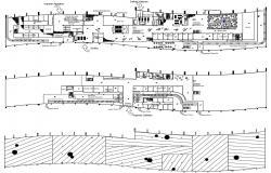 Airport Terminal Building Design CAD Plan