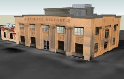 Airport drawing in SketchUp