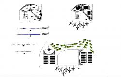 Airport elevation, section, plan and auto-cad details dwg file