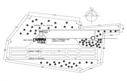 Airport layout and landscaping structure details dwg file