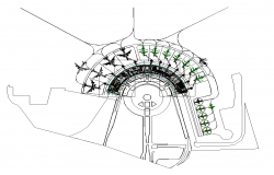 Airport parking system detail elevation 2d view layout file