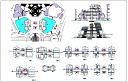 Airport plan detail view dwg file