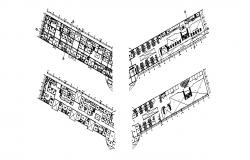 Airport terminal floors layout plan cad drawing details dwg file