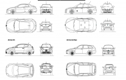 Alfa romeo plan detail dwg file.