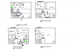 All floor layout plan of bungalow