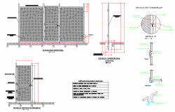 All share single sheet elevation and section autocad file