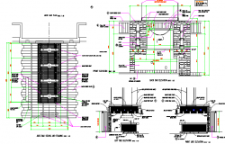All sided elevation with ceiling & plan details of bar - Restaurant dwg file