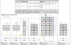 Aluminium Door and window detail view dwg file