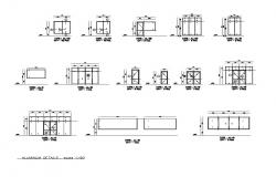 Aluminium doors and windows installation details dwg file