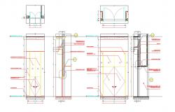 Aluminum And Glass Material Door Drawing With Working  Autocad File;