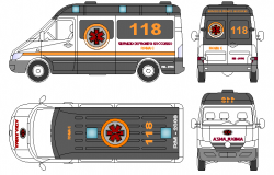 Ambulances architecture design dwg file