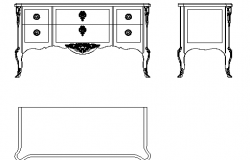 American long cabinet detail