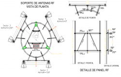 Antenna support plant view autocad file