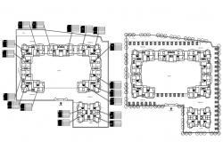 Apartment Block Plan Free DWG File