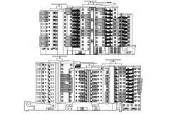 Apartment Building Elevation AutoCAD File
