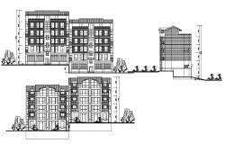 Apartment Building Elevation Design AutoCAD File