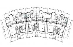 Apartment Building Floor Plan AutoCAD File