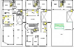 Apartment Building Project House Structure Details dwg file