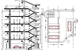 Apartment Building and Office Section Details dwg file