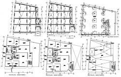 Apartment Construction Plan DWG File