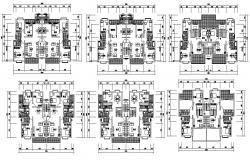 Apartment Design Furniture Layout CAD plan