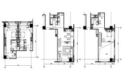 Apartment Design Plans With Furniture Layout  AutoCAD File Free