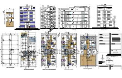 Apartment Flat Elevation dwg file
