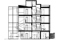 Apartment Flat Section plan dwg file