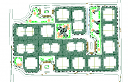 Apartment Lay-out Design DWG file