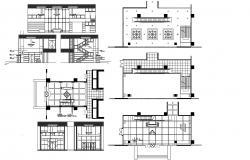 Apartment Lobby Design Plan CAD Drawing