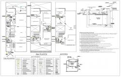 Apartment architecture plan and detail