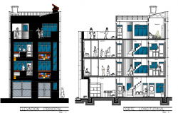 Apartment building elevation design