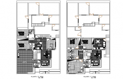 Apartment building layout plan dwg file