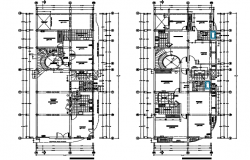Apartment building plan detail dwg file