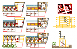 Apartment design drawing of 122.34 sq.ft