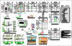 Apartment design view with architect plan,structural and electrical design view dwg file