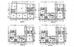 Apartment design with detail dimension in dwg file