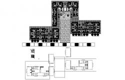 Apartment design with furniture detail in dwg file