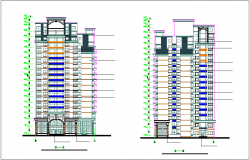 Apartment elevation dwg file