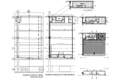 Apartment flat in beam plan detail dwg file