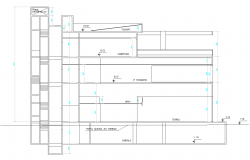Apartment flat side exterior elevation view detail dwg file