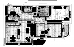 Apartment plan detail dwg file.