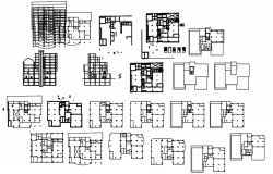 Apartment plan with detail dimension in dwg file