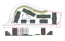 Apartment residential plot Key plan lay-out