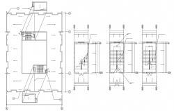 Apartment staircase Design Plan