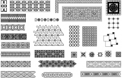 Arabic decorative patterns detail dwg file