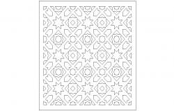 Arabic pattern tile elevation block cad drawing details dwg file
