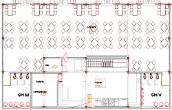 Arc Club House Architecture Layout and Structure Details dwg file