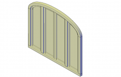 Arched window unit plan detail dwg file.