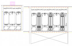 Architect design Door elevation detail dwg file